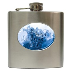 Water Nature Background Abstract Hip Flask (6 Oz)