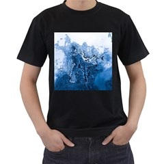 Water Nature Background Abstract Men s T Shirt (black) (two Sided)
