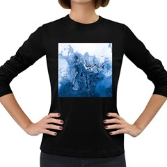 Water Nature Background Abstract Women s Long Sleeve Dark T Shirts