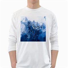 Water Nature Background Abstract White Long Sleeve T Shirts