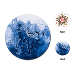 Water Nature Background Abstract Playing Cards (round)
