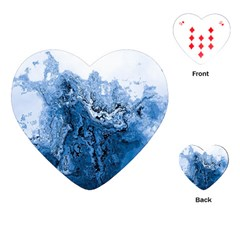 Water Nature Background Abstract Playing Cards (heart)