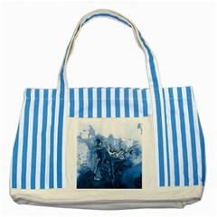 Water Nature Background Abstract Striped Blue Tote Bag
