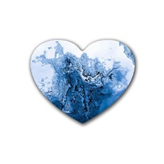 Water Nature Background Abstract Heart Coaster (4 Pack)
