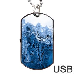 Water Nature Background Abstract Dog Tag Usb Flash (one Side)