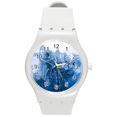 Water Nature Background Abstract Round Plastic Sport Watch (m) by Nexatart