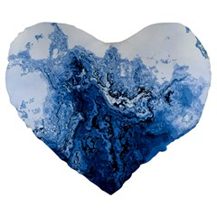 Water Nature Background Abstract Large 19  Premium Heart Shape Cushions