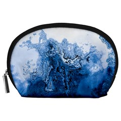 Water Nature Background Abstract Accessory Pouches (large)