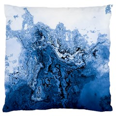 Water Nature Background Abstract Large Flano Cushion Case (one Side)
