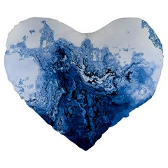 Water Nature Background Abstract Large 19  Premium Flano Heart Shape Cushions