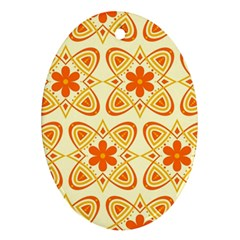 Background Floral Forms Flower Ornament (oval)