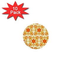 Background Floral Forms Flower 1  Mini Buttons (10 Pack)