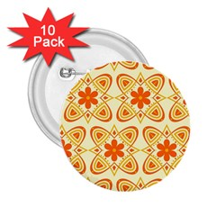 Background Floral Forms Flower 2 25  Buttons (10 Pack)