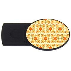 Background Floral Forms Flower Usb Flash Drive Oval (2 Gb)