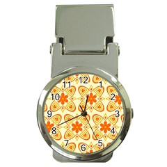 Background Floral Forms Flower Money Clip Watches