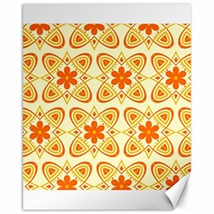 Background Floral Forms Flower Canvas 16  X 20
