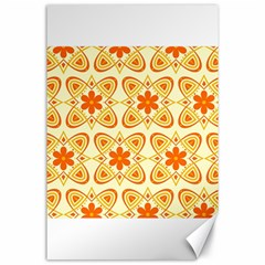 Background Floral Forms Flower Canvas 24  X 36  by Nexatart