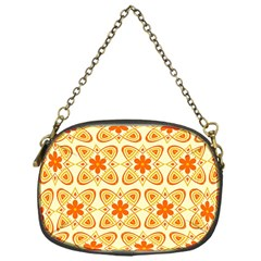Background Floral Forms Flower Chain Purses (one Side)  by Nexatart