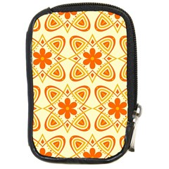 Background Floral Forms Flower Compact Camera Cases