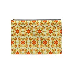 Background Floral Forms Flower Cosmetic Bag (medium)