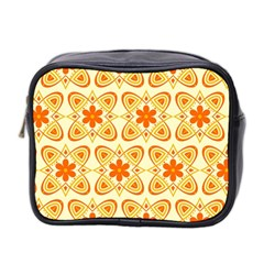 Background Floral Forms Flower Mini Toiletries Bag 2 Side