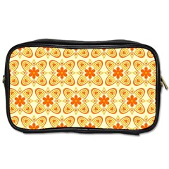 Background Floral Forms Flower Toiletries Bags by Nexatart