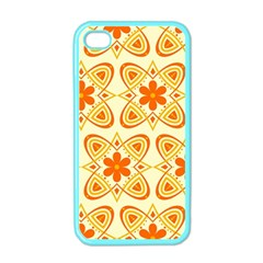 Background Floral Forms Flower Apple Iphone 4 Case (color)