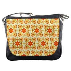 Background Floral Forms Flower Messenger Bags