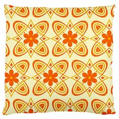 Background Floral Forms Flower Large Cushion Case (two Sides)