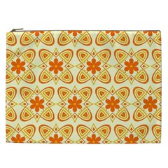 Background Floral Forms Flower Cosmetic Bag (xxl)