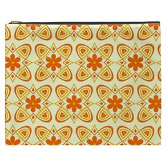 Background Floral Forms Flower Cosmetic Bag (xxxl)