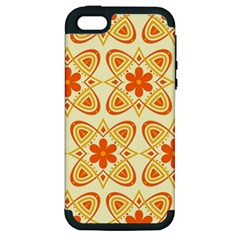 Background Floral Forms Flower Apple Iphone 5 Hardshell Case (pc+silicone)