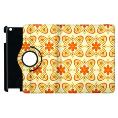 Background Floral Forms Flower Apple Ipad 3/4 Flip 360 Case