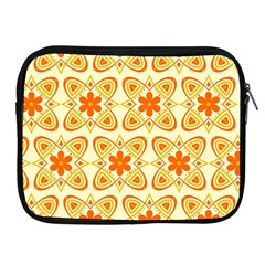 Background Floral Forms Flower Apple Ipad 2/3/4 Zipper Cases