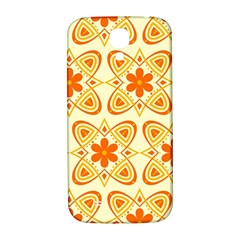 Background Floral Forms Flower Samsung Galaxy S4 I9500/i9505  Hardshell Back Case