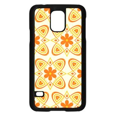 Background Floral Forms Flower Samsung Galaxy S5 Case (black)