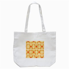 Background Floral Forms Flower Tote Bag (white)