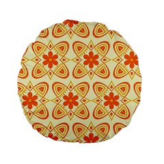 Background Floral Forms Flower Standard 15  Premium Flano Round Cushions