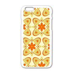 Background Floral Forms Flower Apple Iphone 6/6s White Enamel Case
