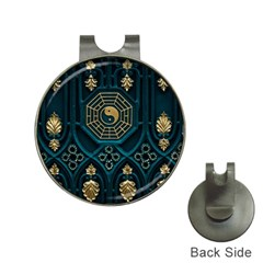 Ying Yang Abstract Asia Asian Background Hat Clips With Golf Markers