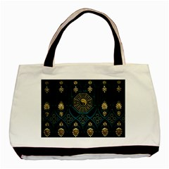 Ying Yang Abstract Asia Asian Background Basic Tote Bag