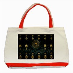 Ying Yang Abstract Asia Asian Background Classic Tote Bag (red)