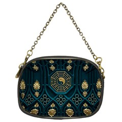 Ying Yang Abstract Asia Asian Background Chain Purses (two Sides)