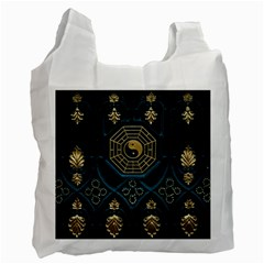 Ying Yang Abstract Asia Asian Background Recycle Bag (one Side)