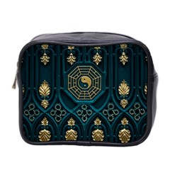 Ying Yang Abstract Asia Asian Background Mini Toiletries Bag 2 Side