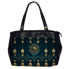 Ying Yang Abstract Asia Asian Background Office Handbags (2 Sides)