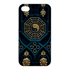 Ying Yang Abstract Asia Asian Background Apple Iphone 4/4s Premium Hardshell Case