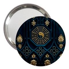 Ying Yang Abstract Asia Asian Background 3  Handbag Mirrors