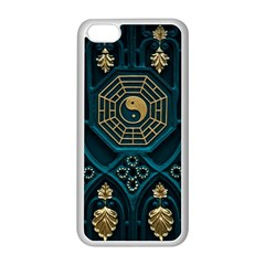 Ying Yang Abstract Asia Asian Background Apple Iphone 5c Seamless Case (white)