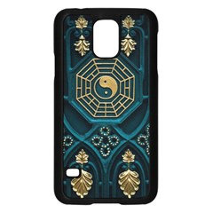 Ying Yang Abstract Asia Asian Background Samsung Galaxy S5 Case (black)
